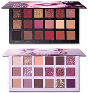 UCANBE Twilight Dust + Aromas The New Nude Eyeshadow Palette Makeup Set, Matte Shimmer Glitter Pressed Pearl All Highly Pigmented Blending Powder, Natural Velvet Texture Eye Shaow Kit