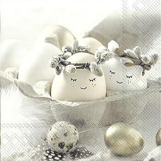 IHR 20 servetten lunchmotief: schattige eieren - Pasen lachende eieren 33 x 33 cm