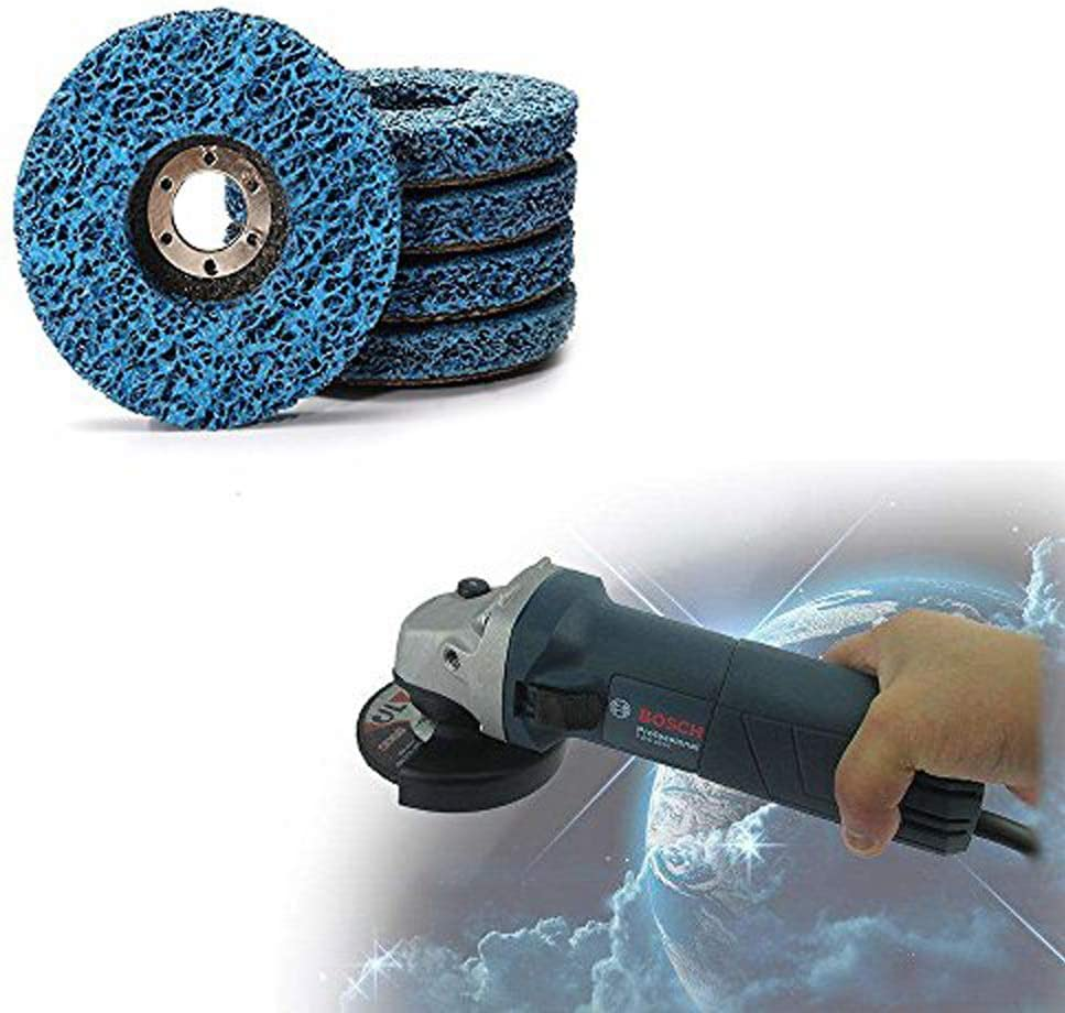 """125mm STRIP DISC 5/"""" WHEEL PAINT RUST REMOVAL POLY CLEAN ANGLE GRINDER x 2//4//20"""