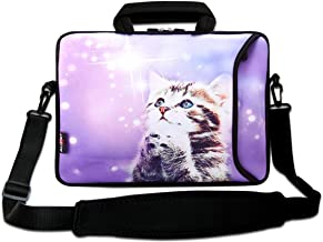 AUPET 15 15.6 inch Neoprene Laptop Sleeve Bag Carrying Case with Outside Handle and Adjustable Shoulder Strap & External S...