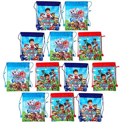 ZSWQ Mochilas Paw Patrol, Bolsas de Cuerdas para Infantil Mochila con Cordón Niños Bolsas Regalo Cumpleaños Deporte Gimnasio Backpack para Niños Niñas Fiesta de Cumpleaños Regalos