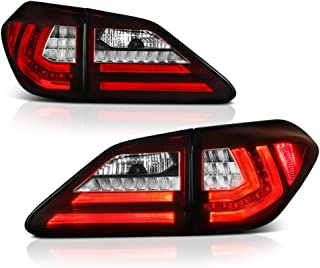 [4-Piece] VIPMOTOZ Red Lens Premium OLED Neon Tube LED Tail Light Housing Lamp Assembly For 2010-2012 Lexus RX350 RX450h Driver & Passenger Side Replacement Pair
