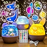 Star Projector Night Light for Kids, AVEKI 360° Rotating Projection Lamp with Remote Control, 3 Appearances, 5 LEDs 15 Colors and 6 Sets of Film Ocean Projector for Bedroom (5 LEDs+Remote Control) 2500 lumen projectors May, 2021