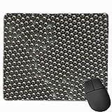 Bola de acero inoxidable Lote Diseños personalizados antideslizantes Alfombrilla de ratón para juegos Tela negra Rectángulo Alfombrilla de ratón Alfombrilla de ratón de caucho natural con bordes cosid