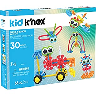 Kid K'NEX Build A Bunch Set for Ages 3+, Construction Educational Toy, 66 Pieces:Amedama