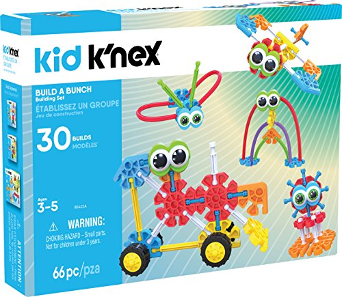 KID K?NEX - Build A Bunch Set - 66 Pieces - For Ages 3+ Construction Educational Toy (Amazon Exclusive), packaging may vary