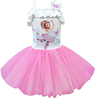 Thombase Baby Fancy Nancy Deluxe Leotard Dress for Girls Multi Cosplay Costume