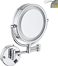 Makeup Mirror Makeup Mirror with Lights Wall Mount, Vanity Mirror 3X Magnification 360 Rotating Double Sided Round for Hot...