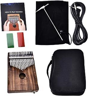 Fenteer Kalimba Thumb Solid Koa W/Bag Musical Instrument Percussion 17-Key Gift
