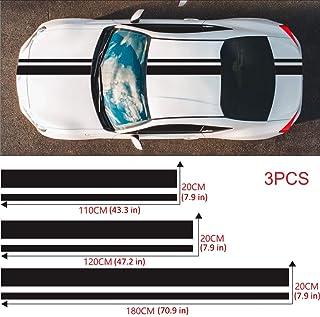 decoraci/ón Lateral Apta para Todos los Autos housesweet Vinyl Racing Stripe Sticker para el cap/ó del Coche Techo