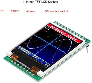 MakerFocus 1.44 TFT LCD Screen, 1.44 inches TFT LCD Module, 128x128 SPI, Picture Graphic Color Screen, 51 STM32 Arduino Routines to Replace 5110 OLED 5V for Arduino