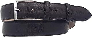 ESPERANTO Cintura Uomo Donna 3,5 cm in Vera Pelle di Vitello stampato Cervo, Fodera in Pelle Bovina e Fibbia Nichel free