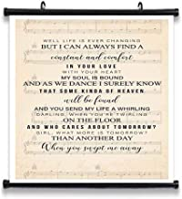 GEHUA06 Swept Away Song Lyrics Decor Poster Print Lyric Quote Wall Art Canvas Home Artwork Decoration Framed 12X12in