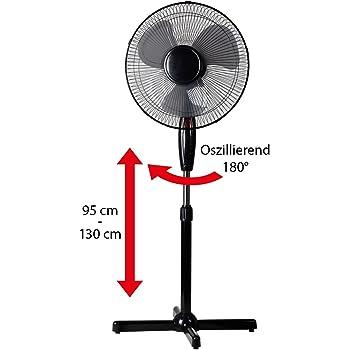 Ventilador de pie con función de oscilación, 3 velocidades, con ...
