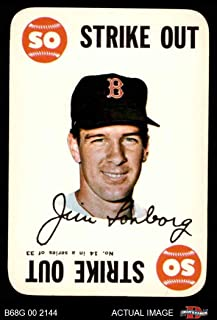 1968 Topps Game # 14 Jim Lonborg Boston Red Sox (Baseball Card) Dean's Cards 4 - VG/EX Red Sox