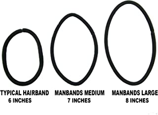 Manbands Large Sized Hair Ties for Men's Wrists - 48 Count