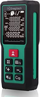 Enegitech Laser Measure 229ft 70m Class II Laser Measuring Device LCD Display for Distance Area Volume Pythagorean Measurement Exclusive Designed Hand Strap and Battery Included