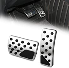AndyGo Gas Brake Pedal Cover Set Fit Jeep Grand Cherokee Dodge Durango 2011 2012 2013 2014 2015 2016 2017 2018 Accessories