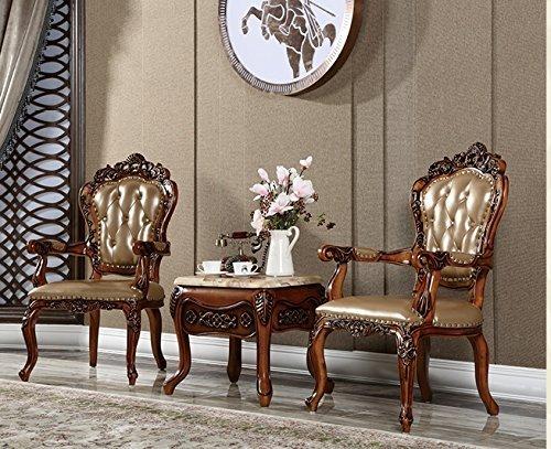 Ma Xiaoying Fauteuil / table basse en bois de hêtre massif sculpté à la main, meuble classique européen, pour tous les départements Marron