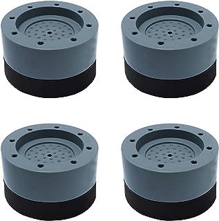 LSEEKA Amortisseurs lave linge 4 pièces Coussinets de Machine à Laver Tapis Anti-Vibration pour Machine à laver Pieds Ant...