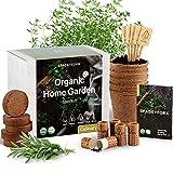 Indoor Herb Garden Starter Kit - Certified 100% USDA Organic Non GMO - Potting...