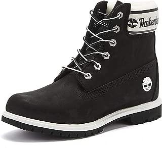 Timberland 6 Inch Logo Collar Womens Black Boots