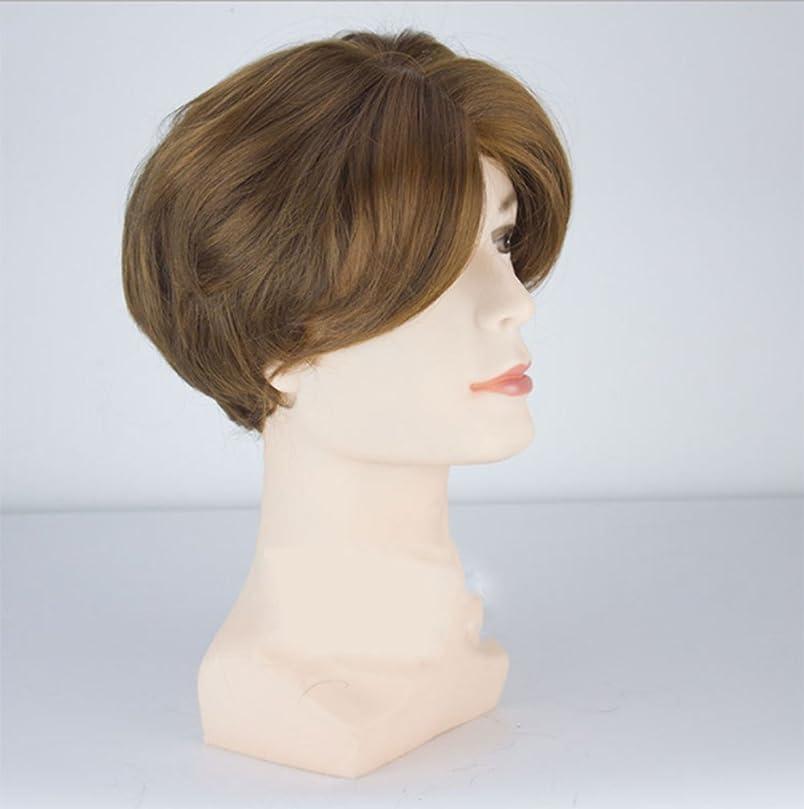 倉庫聴覚人間男性のためのかつらベスト合成の髪のフロントレースのフロントヘアピースの衣装非常に自然に見えるベスト