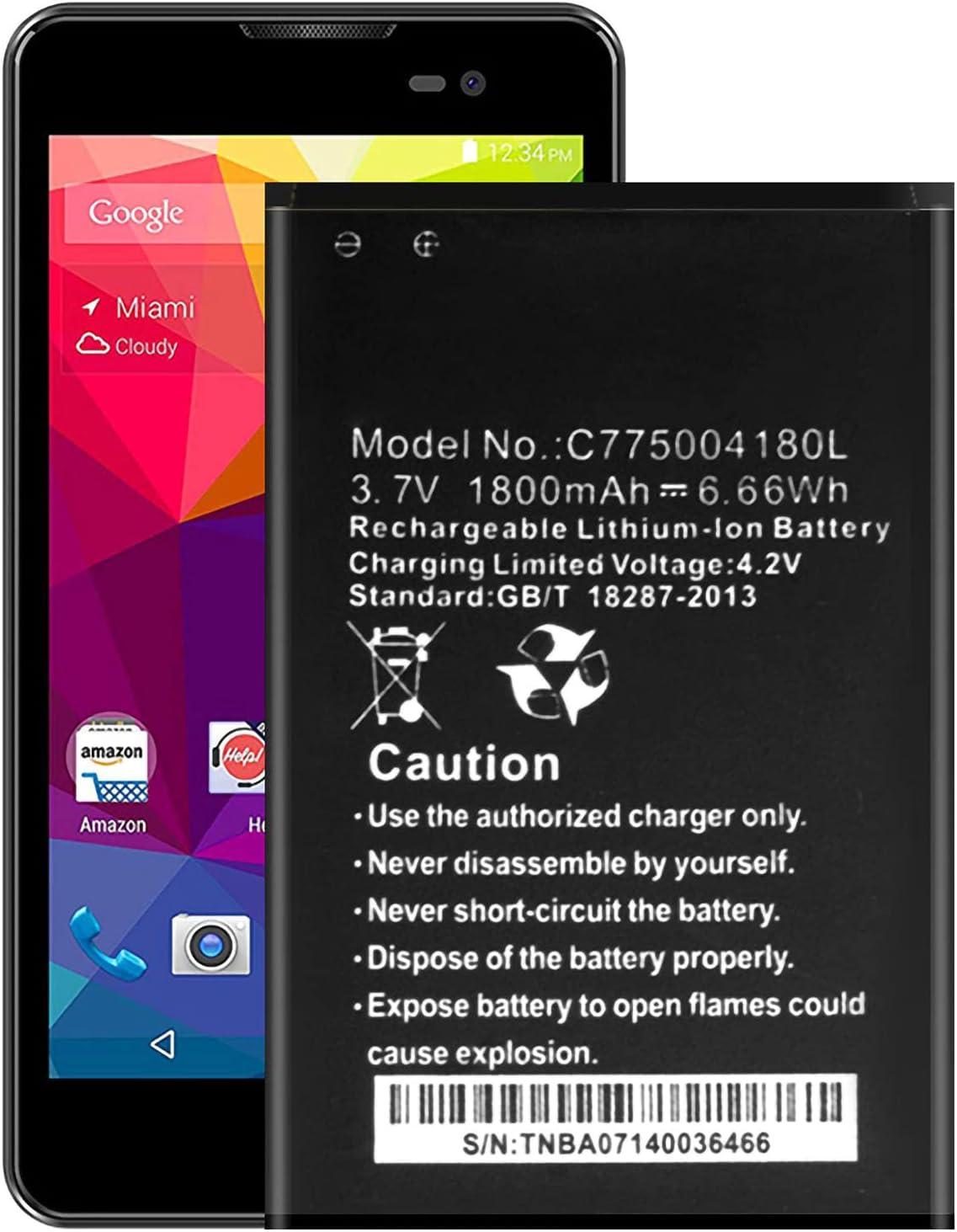 for BLU Ultra-Cheap Deals Advance 5.0 Replacement Battery C775004180L Fresno Mall D030UX