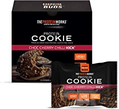 THE PROTEIN WORKS Protein Cookies High Protein Low Sugar Snack High Fibre Gluten Free Choc Cherry Chilli Kick Box of 12 Estimated Price : £ 23,99
