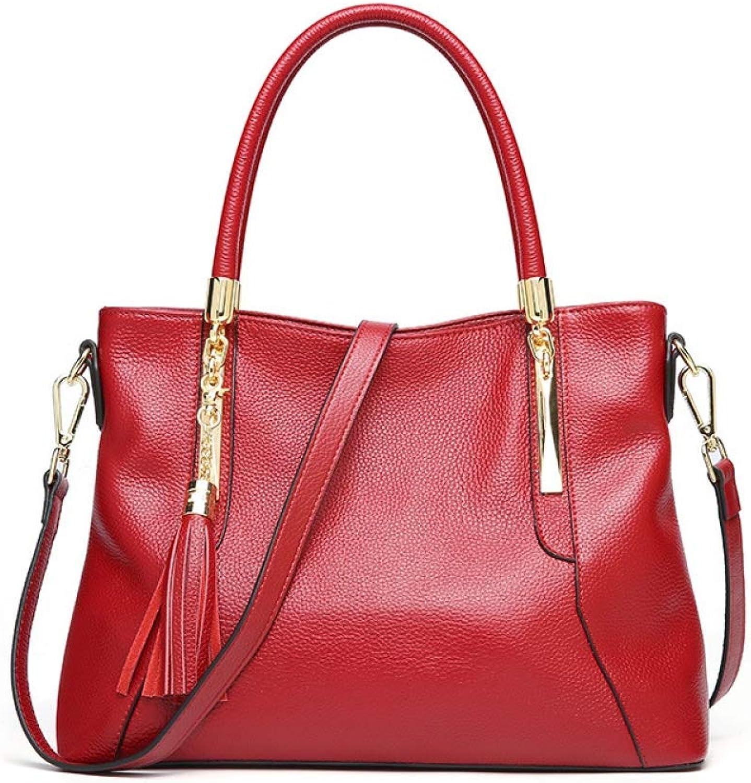 ASHIJIN New Womens Genuine Handbags Fashion Shoulder Bag Women Brand Luxury Cowhide Real Bags for Women