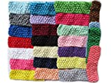 YYCRAFT 50 Pcs Elastic Crochet Headbands for...