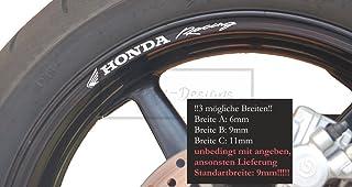 Gl/änzend Rot Motorrad Motorradfelge Decal Accessory Aufkleber f/ür Honda CBR 600RR