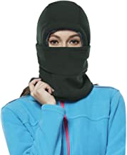 Achiou Balaclava Fleece Hood for Women Kids Thick Ski Face Mask Hat Cold Weather Winter Warmer Windproof Adjustable Cycling
