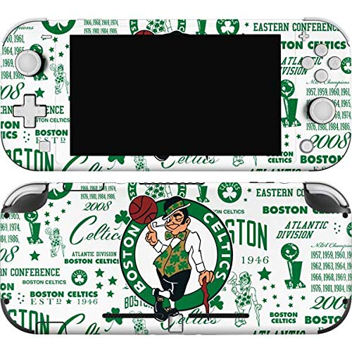 Skinit Decal Gaming Skin Compatible with Nintendo Switch Lite - Officially Licensed NBA Boston Celtics Historic Blast Design