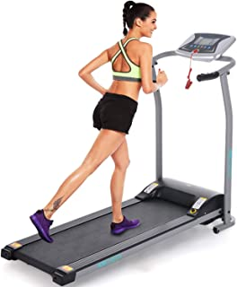 ANCHEER Treadmill, Treadmill with LCD Motorized Running Walking Jogging Exercise Fitness Machine Trainer Equipment for Gym Home Office