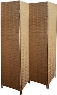 Biombo Separador de Ambientes, en Papel Trenzado Bambú