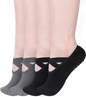 Toosell Yoga Socks Women Non-Slip Grips Socks for Ballet Dance Workout Fitness