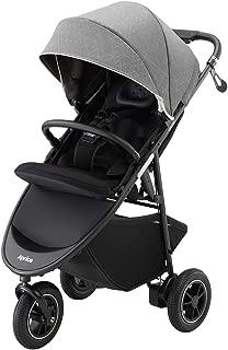 アップリカ 3輪ベビーカー Smooove Premium AB スムーヴプレミアムAB (ハンドブレーキ・安定自立・新生児から使える) 別売トラベルシステム対応 グレービューティーデニム 1か月~ (1年保証) 2084491
