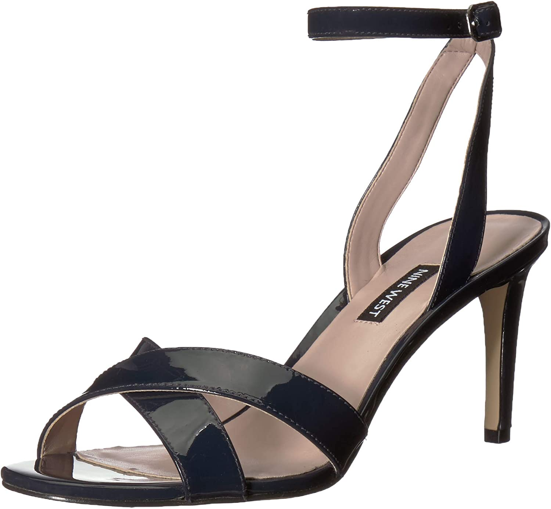 Nine West Womens Apryle Patent Heeled Sandal