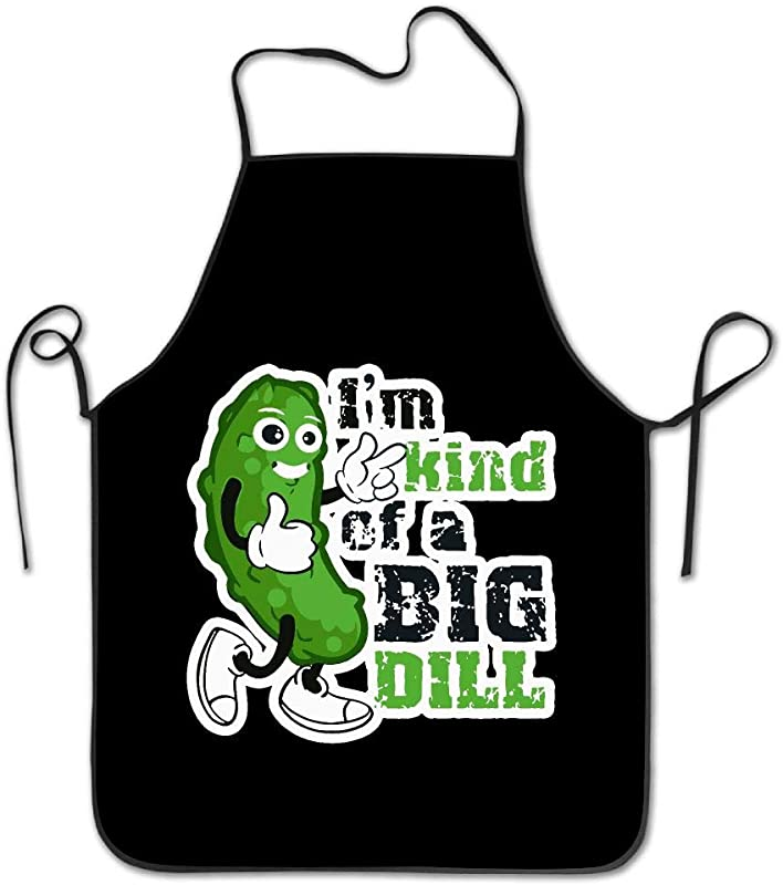 OPQRSTQ O I M Kind Of A Big Dill Pickle Adjustable Kitchen Overlock Aprons Mother Gift Baking Unisex