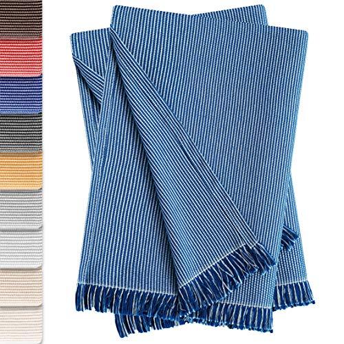 Vipalia Pack de 2 Colchas Multiusos Sofa. Plaids para Cama. Mantas Foulard Cubresofa Cubrecama. Comodas Practicas y Suaves. Calidad Diseño. Paul 180 x 260 cm Azul