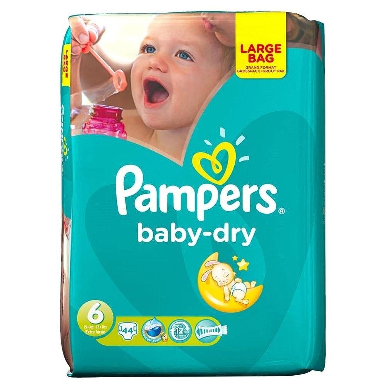 事実上兵器庫合図Pampers Baby Dry Size 6 Extra Large 16kg+ (44 per pack) パンパース赤ちゃんドライサイズ6特大16キロ+ (パックあたり44 )