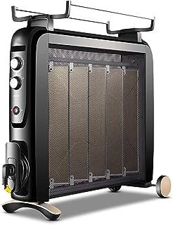 WLJQNQ Calentador eléctrico, Negro 2500W Calefacción eléctrica de película de calefacción y Temperatura Constante Radiador eléctrico de Cuatro velocidades