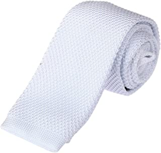 9fcce53e6c51 Dan Smith Men's Fashion Solid Gift For World Microfiber Skinny Tie With  Free Gift Box