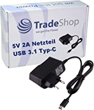 Trade-Shop - Cargador rápido USB 3.1 Tipo C 5 V 2 A para Blackberry KEY2 KEYone Motion Bluboo Maya MAX S8 S8+ BQ Aquaris X2 Pro Doogee Mix 2 Caterpillar Cat S61 Cyrus CS 40