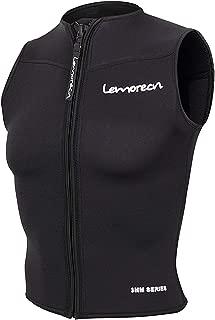 Lemorecn Mens Wetsuits Top Premium Neoprene 3mm Zipper Diving Vest