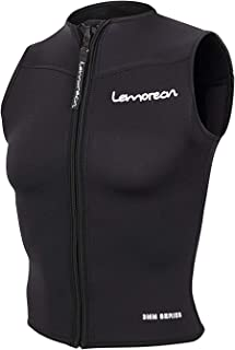 Lemorecn Mens Wetsuits Top Premium Neoprene 3mm Zipper Diving Vest