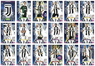 Match ATTAX Champions League 2018/19 Juventus Full 18 Card Team Set