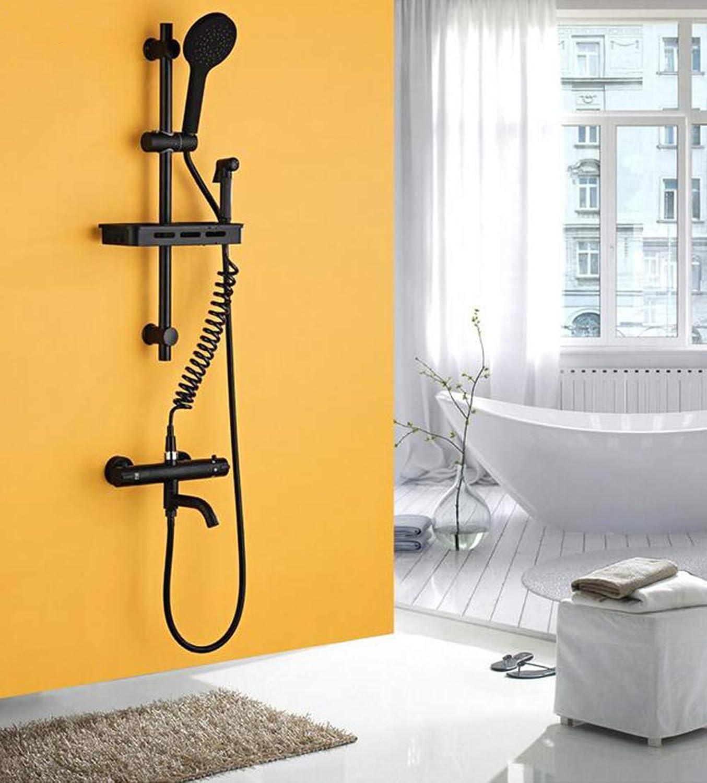 MICHEN Shower system, black shower set, smart thermostatic shower