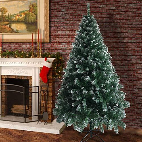 BlueSkyHome UK Sapin de Noël artificiel 1,8 m pour décoration intérieure et extérieure - Assemblage facile - Sapin automatique (blanc et vert)